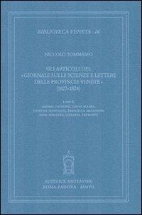 Gli articoli del «Giornale sulle scienze e lettere delle provincie venete» (1823-1824)