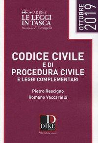Codice civile e codice di procedura civile e leggi complementari pocket 2019