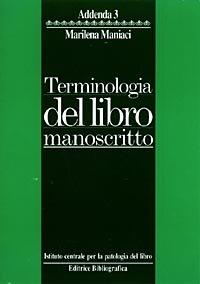 Terminologia del libro manoscritto