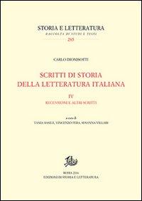 Scritti di storia della letteratura italiana