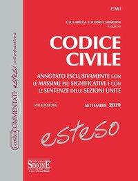 Codice civile esteso. Annotato esclusivamente con le massime più significative e con le sentenze delle Sezioni Unite