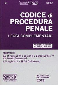 Codice di procedura penale e leggi complementari. Ediz. minor