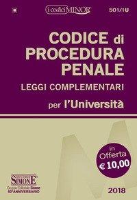 Codice di procedura penale e leggi complementari per l'Università. Ediz. minor
