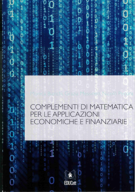 Complementi Di Matematica Per Le Applicazioni Economiche E Finanziarie