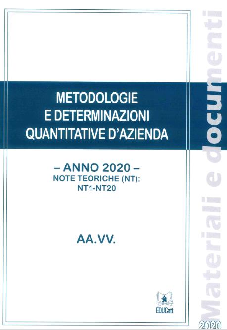 Metodologie E Determinazioni Quantitative D`azienda