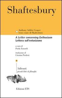 Lettera sull'entusiasmo. Testo inglese a fronte