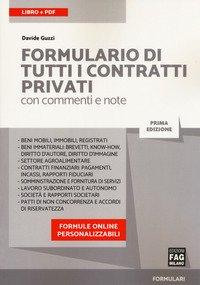 Formulario di tutti i contratti privati con commenti e note