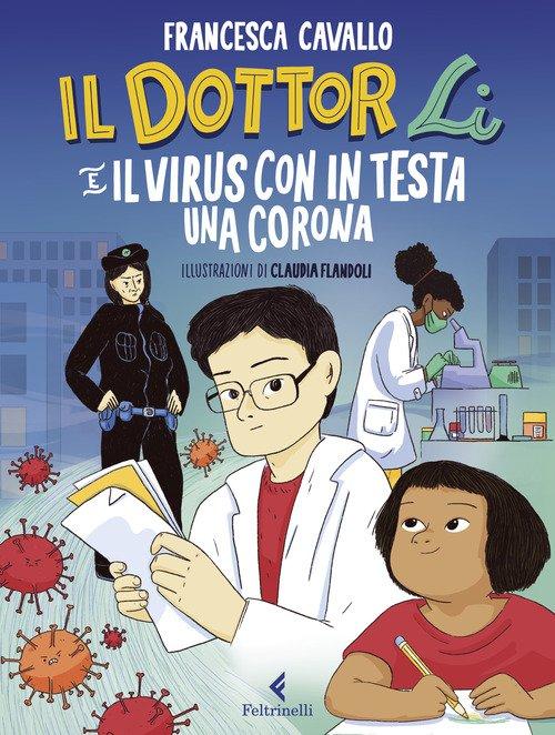 Il dottor Li e il virus con in testa una corona