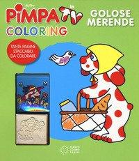 Golose merende. Pimpa in tv. Coloring