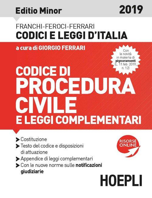 Codice di procedura civile e leggi complementari 2019. Ediz. minore