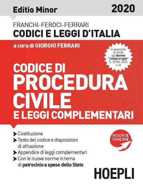 Codice procedura civile e leggi complementari 2020. Editio minor