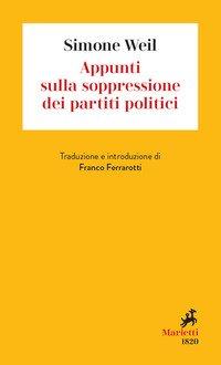 Appunti sulla soppressione dei partiti politici