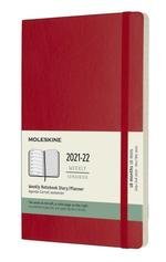 18 Months, Weekly Notebook. Large, Soft Cover, Scarlet Red