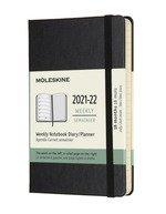 18 Months, Weekly Notebook. Pocket, Hard Cover Black