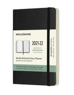 18 Months, Weekly Notebook. Pocket, Soft Cover, Black