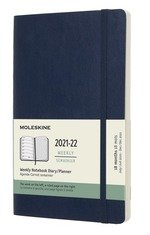 18 Months, Weekly Notebook. Pocket, Soft Cover. Sapphire Blue