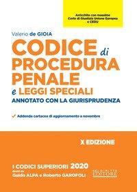 Codice di procedura penale e leggi speciali. Annotato con la giurisprudenza