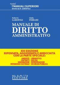 Manuale di diritto amministrativo. Parte generale e speciale