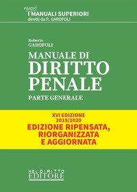 Manuale di diritto penale. Parte generale