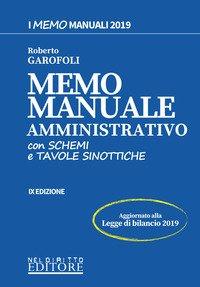 Memo manuale amministrativo. Con schemi e tavole sinottiche