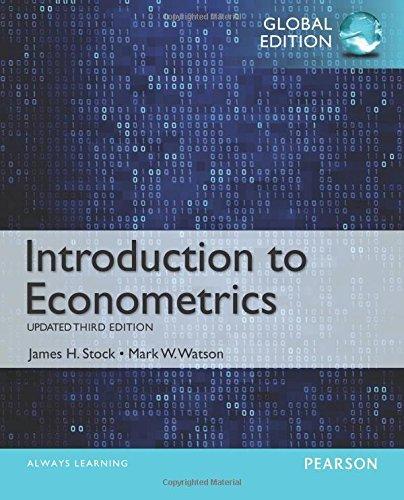 Introduction To Econometrics Global Edition