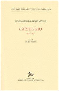 Carteggio. 1930-1937
