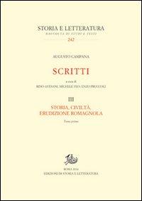 Scritti. Storia, civiltà, erudizione romagnola