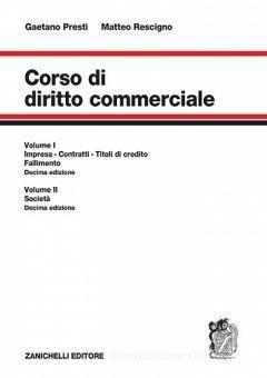 Corso Di Diritto Commerciale Unico