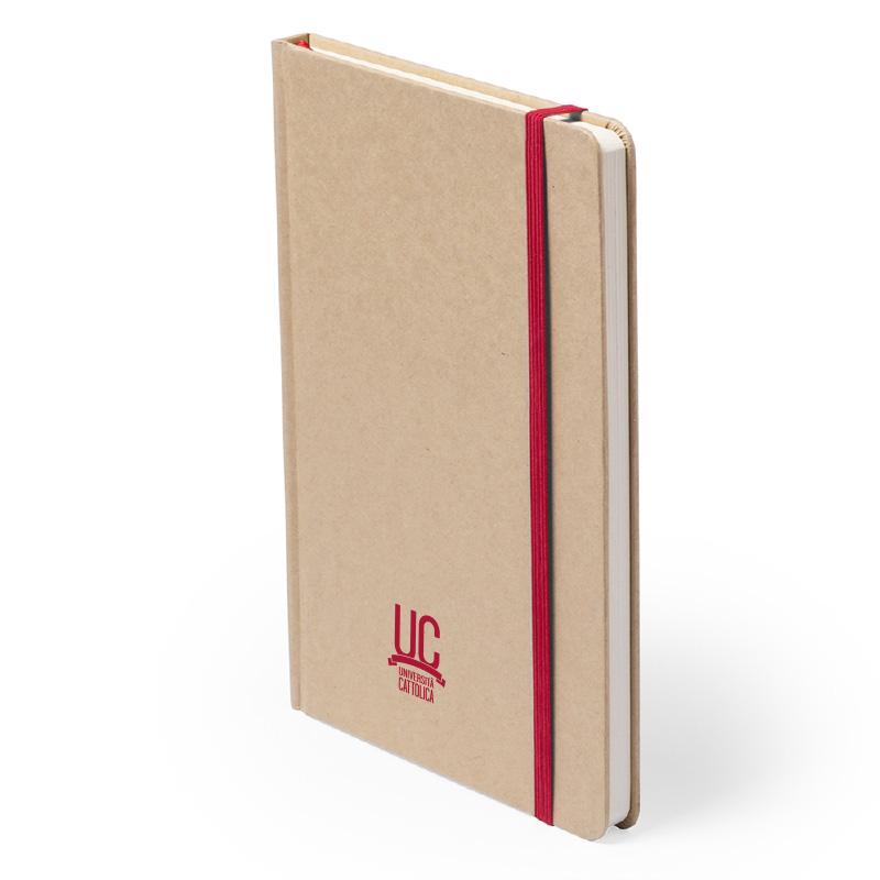 Notes In Carta Riciclata Con Elastico Rosso