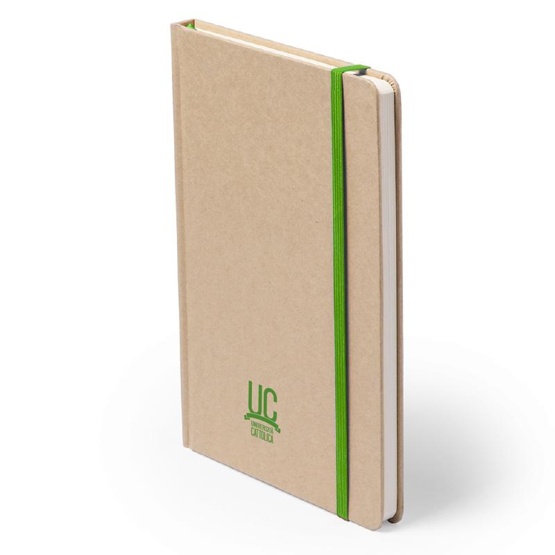 Notes In Carta Riciclata Con Elastico Verde