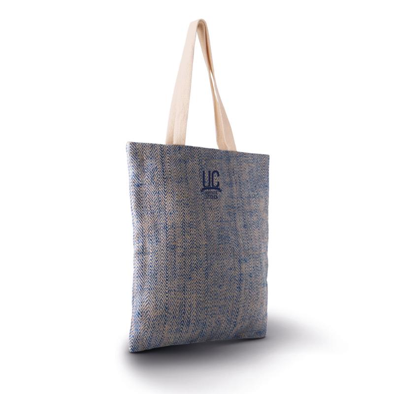 Shopper In Iuta Natural Bleu